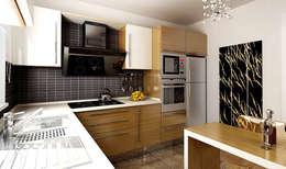 Cocinas de estilo moderno por DAYAL Mimarlık