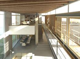 Projekty,  Salon zaprojektowane przez Gallagher Lourens Architects