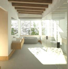 Projekty,  Łazienka zaprojektowane przez Gallagher Lourens Architects