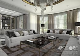 classic Living room by ArtCore Design
