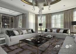 رہنے کا کمرہ  by ArtCore Design