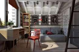 industriale Schlafzimmer von Дизайн студия Алёны Чекалиной