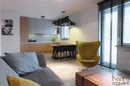 industrial Living room by studio projektowe KODA design Dawid Kotuła