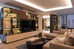Departamento Citadel - ARCO Arquitectura Contemporánea: Salas multimedia de estilo clásico por ARCO Arquitectura Contemporánea