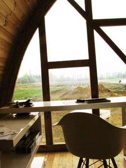 Estudios y oficinas de estilo moderno por Estudio Terra Arquitectura & Patrimonio