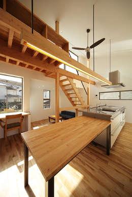 haus-gap: 一級建築士事務所hausが手掛けたダイニングです。