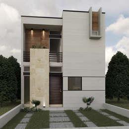 Fachada Principal: Casas de estilo ecléctico por 3030 ARQUITECTOS