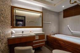 主臥浴室大吹療癒自然風:  浴室 by 青瓷設計工程有限公司