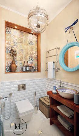 Санузел в Средиземноморском стилеот мастерской IvE interior: Ванная комната в . Автор – Iv-Eugenie