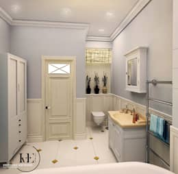 Ванная в стиле Прованс от мастерской IvE interior: Ванная комната в . Автор – Iv-Eugenie