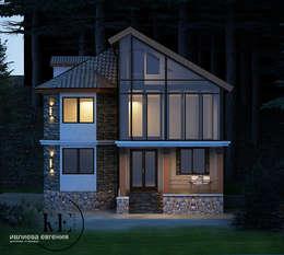 Проект коттеджа в Скандинавском стиле: Дома в . Автор – Iv-Eugenie