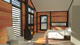 Steel Framed Home  - bedroom: modern Bedroom by Edge Design Studio Architects