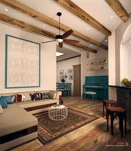 Гостиная в Средиземноморском стиле: Гостиная в . Автор – Iv-Eugenie
