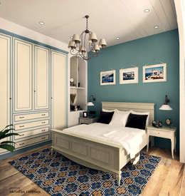 Спальня в Средиземноморском стиле: Спальни в . Автор – Iv-Eugenie