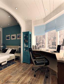 Кабинет (лоджия) в Средиземноморском стиле: Рабочие кабинеты в . Автор – Iv-Eugenie