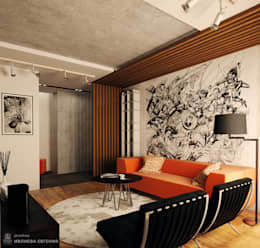 Salas de estilo industrial por Iv-Eugenie