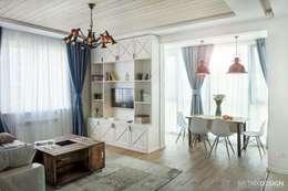 Projekty,  Salon zaprojektowane przez metrixdesign