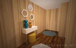 modern Corridor, hallway & stairs by Areabranca