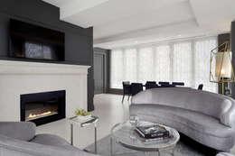 Living Room Penthouse: modern Living room by Joe Ginsberg