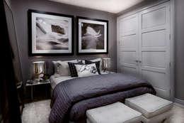 Projekty,  Sypialnia zaprojektowane przez Joe Ginsberg