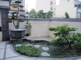 台南(陳公館)新建住宅:  庭院 by 三月室內裝修設計有限公司