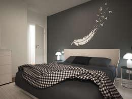 modern Bedroom by GMV Graph - Studio Tecnico di geom. Marco Luca Villa