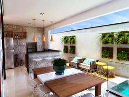 Casas de estilo moderno por ADRIANA MELLO ARQUITETURA