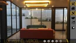 LOMAS DEL VERGEL/LG: Salas de estilo industrial por ADC arquitectos