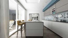 Villa CA: Cucina in stile in stile Moderno di De Vivo Home Design