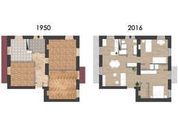 Un appartamento piccolo e vecchio riportato ai giorni nostri for Planimetrie in stile acadiano