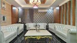 Bungalow : asian Living room by Shadab Anwari & Associates.