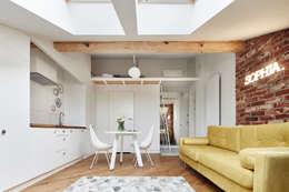 scandinavian Living room by BLACKHAUS
