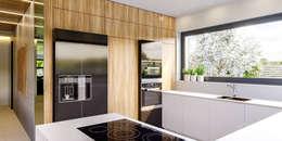 modern Kitchen by HomeKONCEPT | Projekty Domów Nowoczesnych