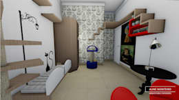 Projekty,  Sypialnia zaprojektowane przez Arquiteta Aline Monteiro