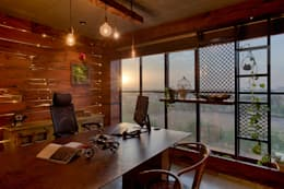 Main Chamber: rustic Study/office by RUST the design studio