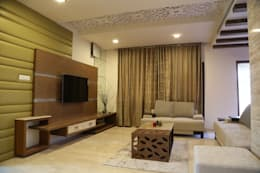 Residential projects: modern Living room by Antarangni Interior p ltd
