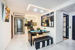 Projekty,  Jadalnia zaprojektowane przez Renozone Interior design house