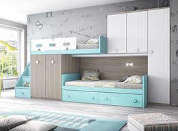 mediterranean Nursery/kid's room by CREA Y DECORA MUEBLES