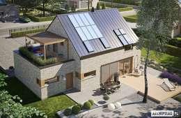 Katrina II G1 ENERGO PLUS - dom, który będzie dla Ciebie oszczędzał! : styl nowoczesne, w kategorii Domy zaprojektowany przez Pracownia Projektowa ARCHIPELAG