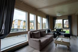 modern Living room by GOOD WOOD