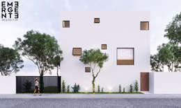 FRONTAL ACCESO: Casas de estilo minimalista por EMERGENTE | Arquitectura