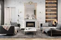 Exquisite flat in Paris: Гостиная в . Автор – Diff.Studio