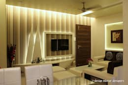 3bhk: modern Living room by I - design interior designer's