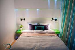APARTAMENT KIWI - OGRODY TUMSKIE I: styl , w kategorii Sypialnia zaprojektowany przez LEMUR Architekci