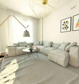 Livings de estilo moderno por Murat Aksel Architecture