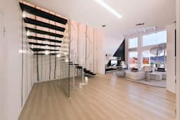 modern Corridor, hallway & stairs by Annalisa Carli
