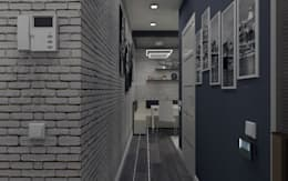 Corridor & hallway by СИРИУS Архитектурное бюро