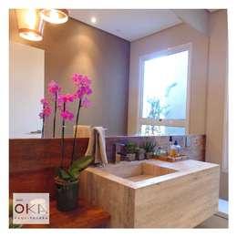Banheiros e Lavabos: Banheiros minimalistas por Alessandra Orsi - Studio OKA Arquitetura