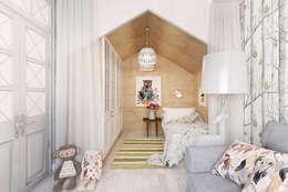 Dormitorios infantiles de estilo escandinavo por Architectured - мастерская Маргариты Рассказовой