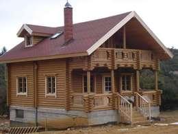 منزل خشبي تنفيذ selin tomruk evleri